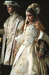 Jane and Guildford on their wedding day in the film Lady Jane    (c) Paramount Pictures