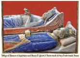 Effigy of Eleanor of Aquitaine and Henry II (c) Fontevrault Abbey, France