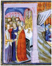 Marriage of Eleanor of Aquitaine & Louis VII of France (c) Musee Conde & The Bridgeman Art Library