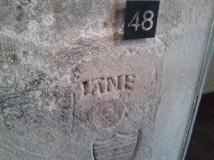 'Jane' carving in the Beauchamp Tower