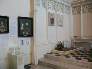 Queen Mary's grave and the accompanying display