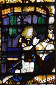 A near-contemporary image of Prince Arthur in the Magnificat window of Great Malvern Priory, c.1501